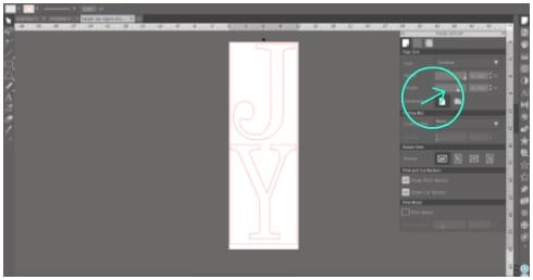 Page settings in Silhouette Studio for larger vinyl rolls
