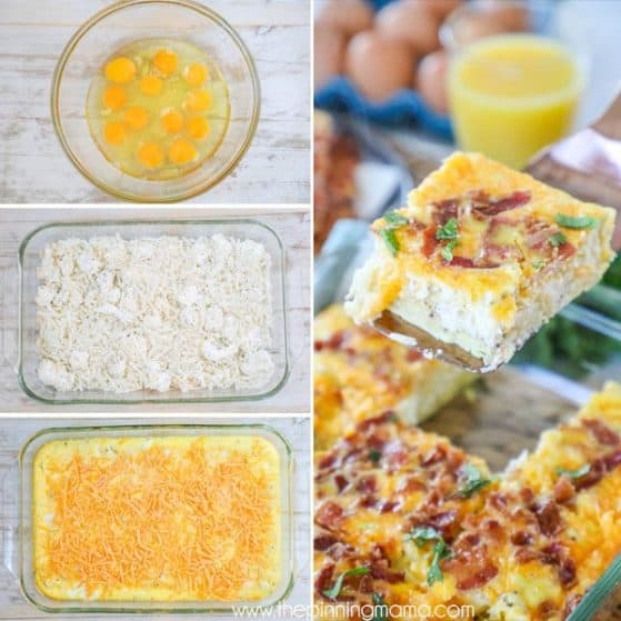 Step by Step Picture of Easy Breakfast Casserole with Bacon