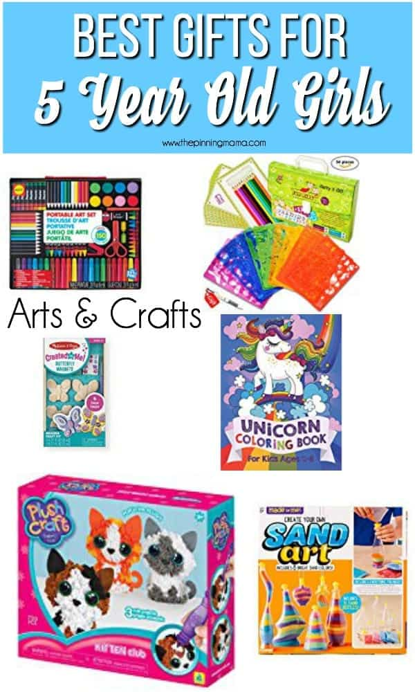 The BEST List of Art and Craft Gift Ideas for a 5 Year Old Girl.
