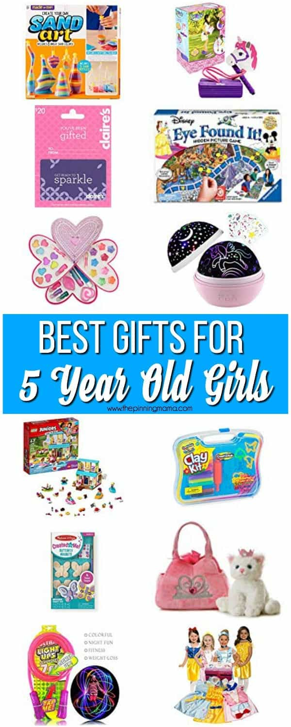 The Ultimate List of Gifts for a 5 year old girl.  You will find everything from baby dolls to electronics