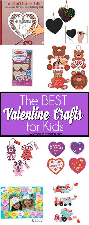 The BIG list of Valentine Crafts for Kids.