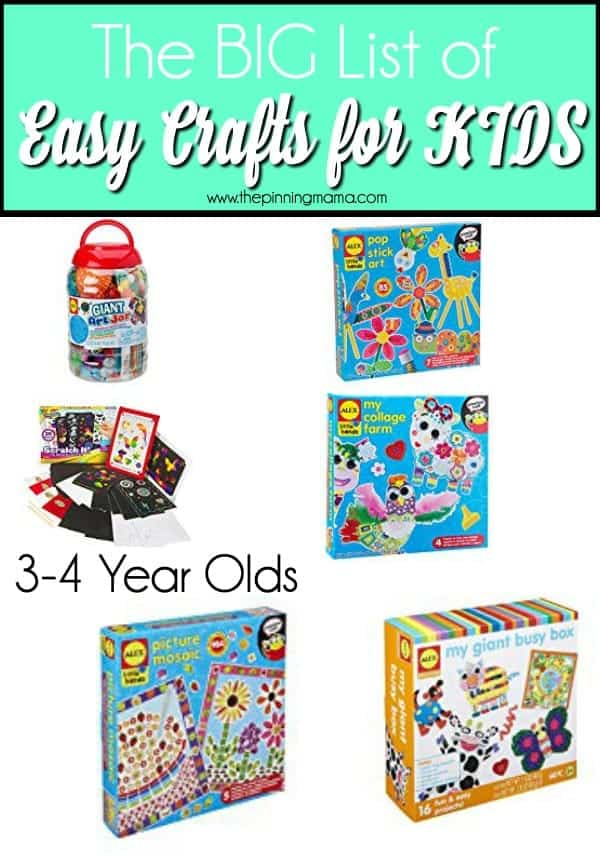The BIG list of easy crafts for Kids
