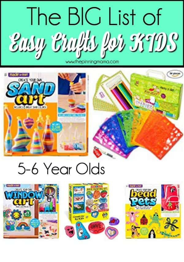 The BIG List of Easy Crafts for Kids.