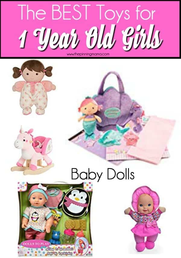 Baby Doll Toy ideas for 1 year old girls.