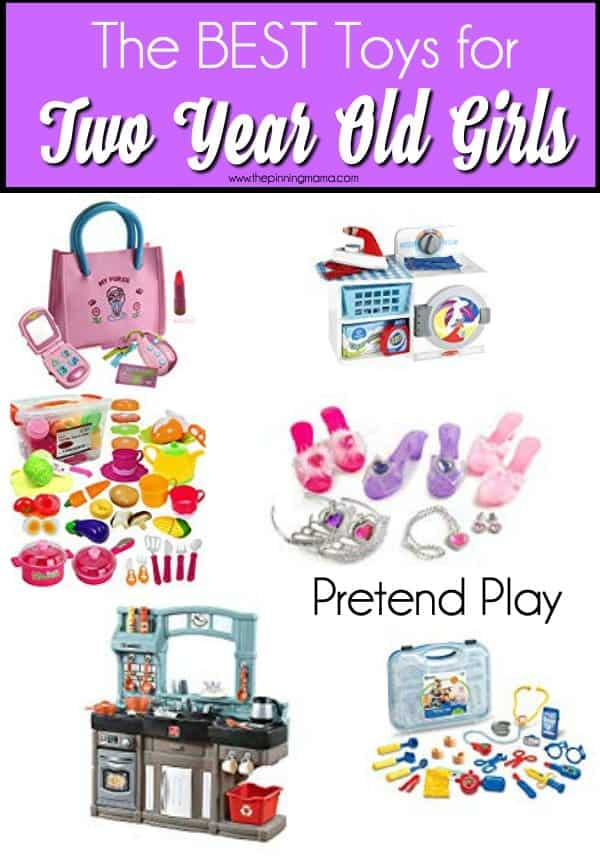The Big List of Pretend Play toy ideas for 2 year old girls.