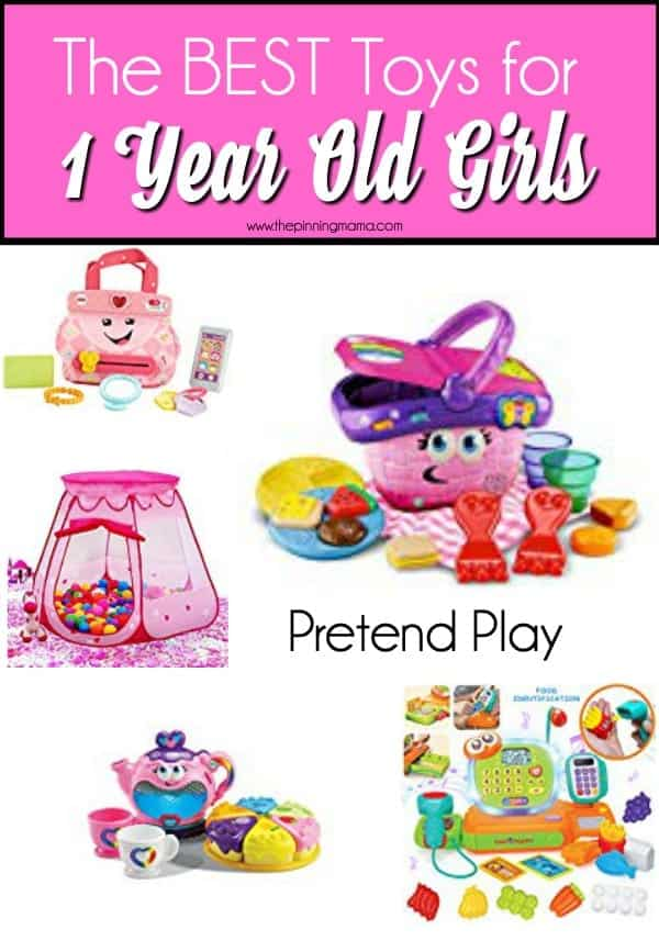 Pretend play toys for 1 year old girls.