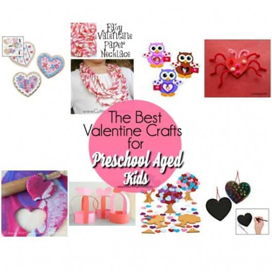 The BIG list of Valentine Crafts for Preschoolers