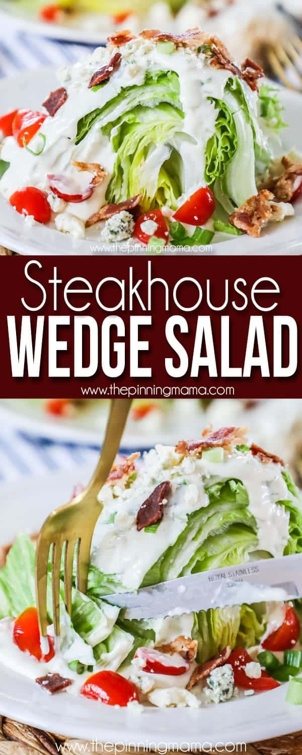 Classic Wedge Salad is quick and easy to make but will taste like it just came from an upscale restaurant.
