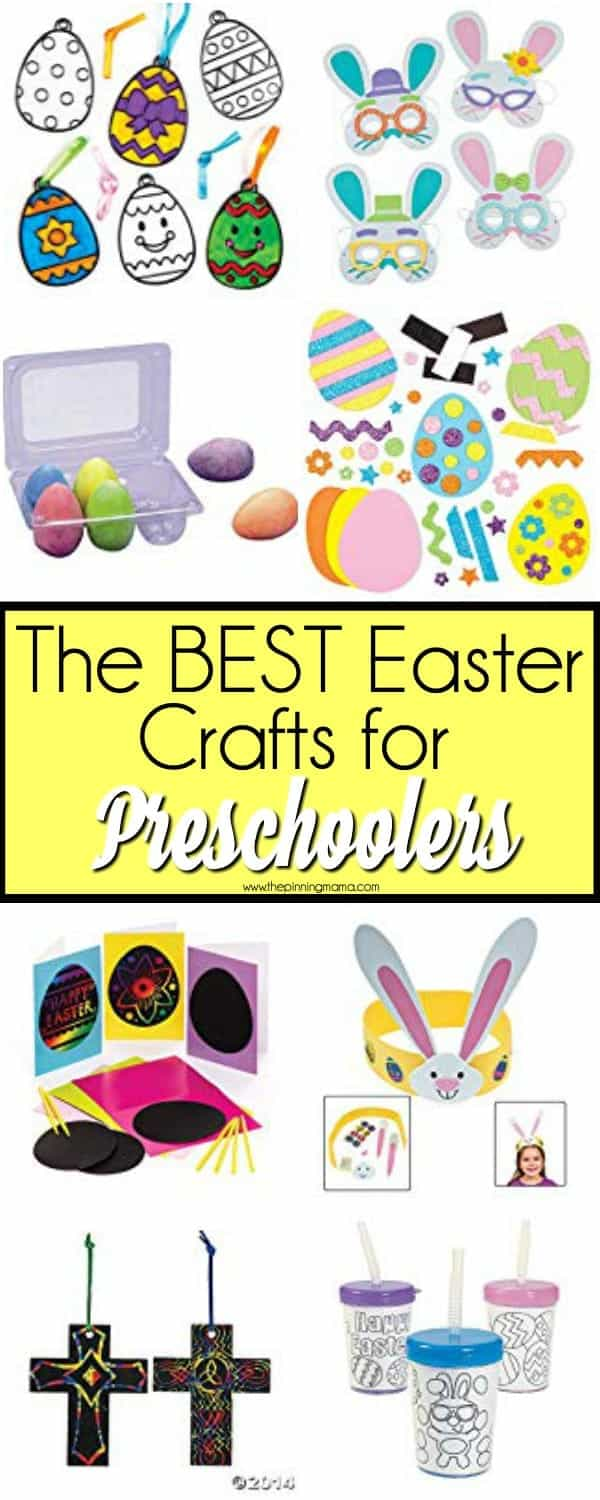The BEST list of mess free Easter crafts for preschoolers.