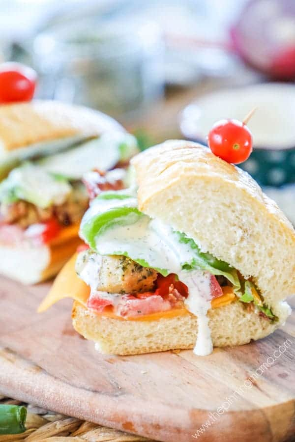 Cheddar Bacon Ranch Chicken Subs are a perfect weeknight meal.