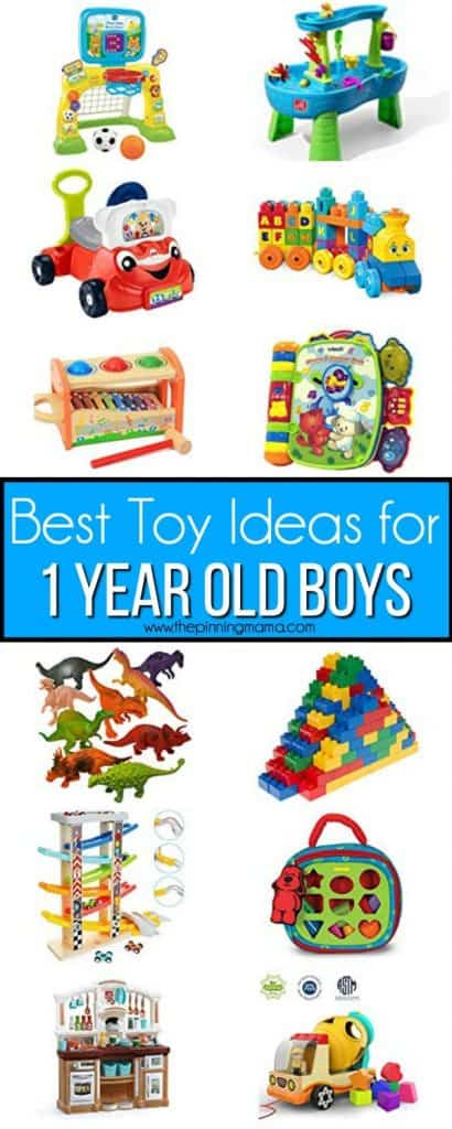 The Big list of the best toy ideas for 1 year old boys.
