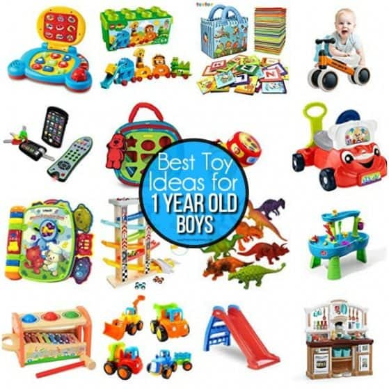 The BEST list of toy ideas for 1 year old boys.