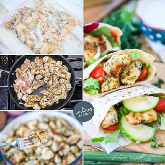 Ranch chicken pitas are full of flavor and easy to make.