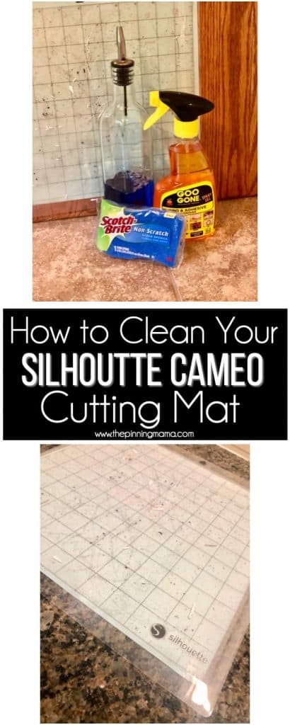 Easy tricks on how to clean your dirty Silhouette CAMEO mat.