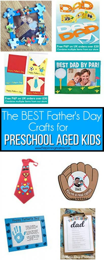 The BEST Father's Day Crafts for Preschool Aged Kids.