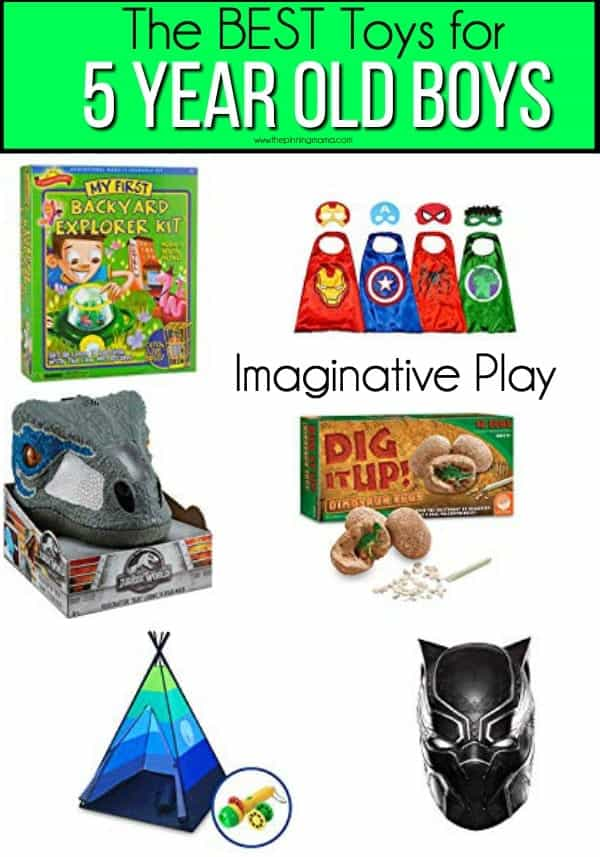 The BEST Imaginative toys for 5 year old boys.