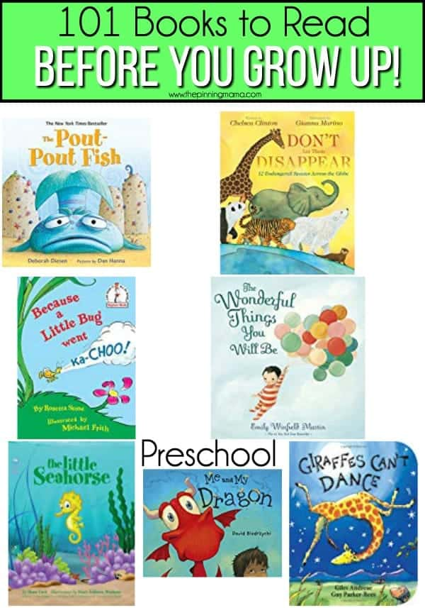 Books for preschool aged kids to read.