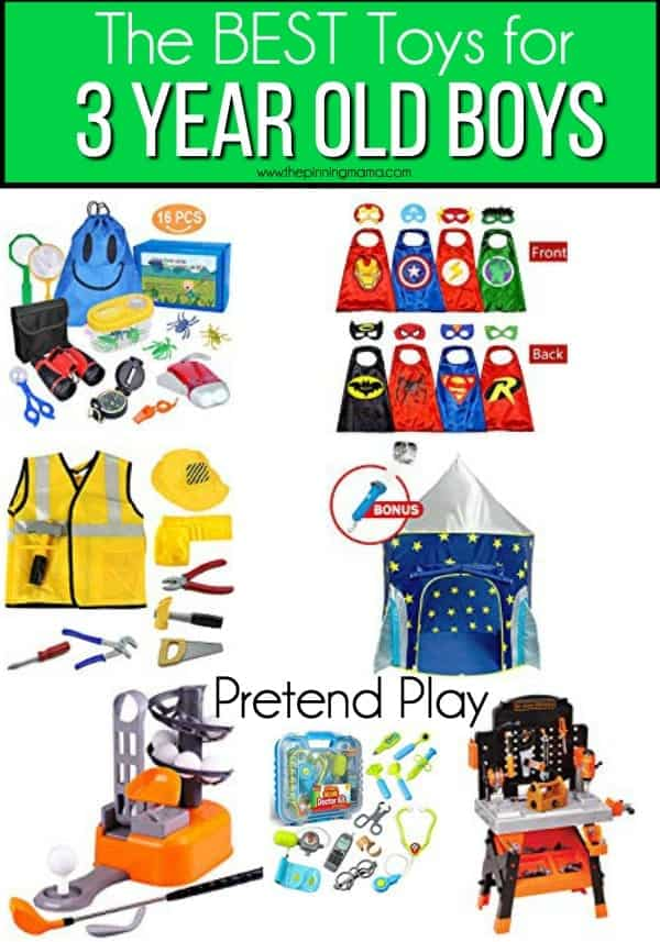 The BEST pretend play toys for 3 year old boys.