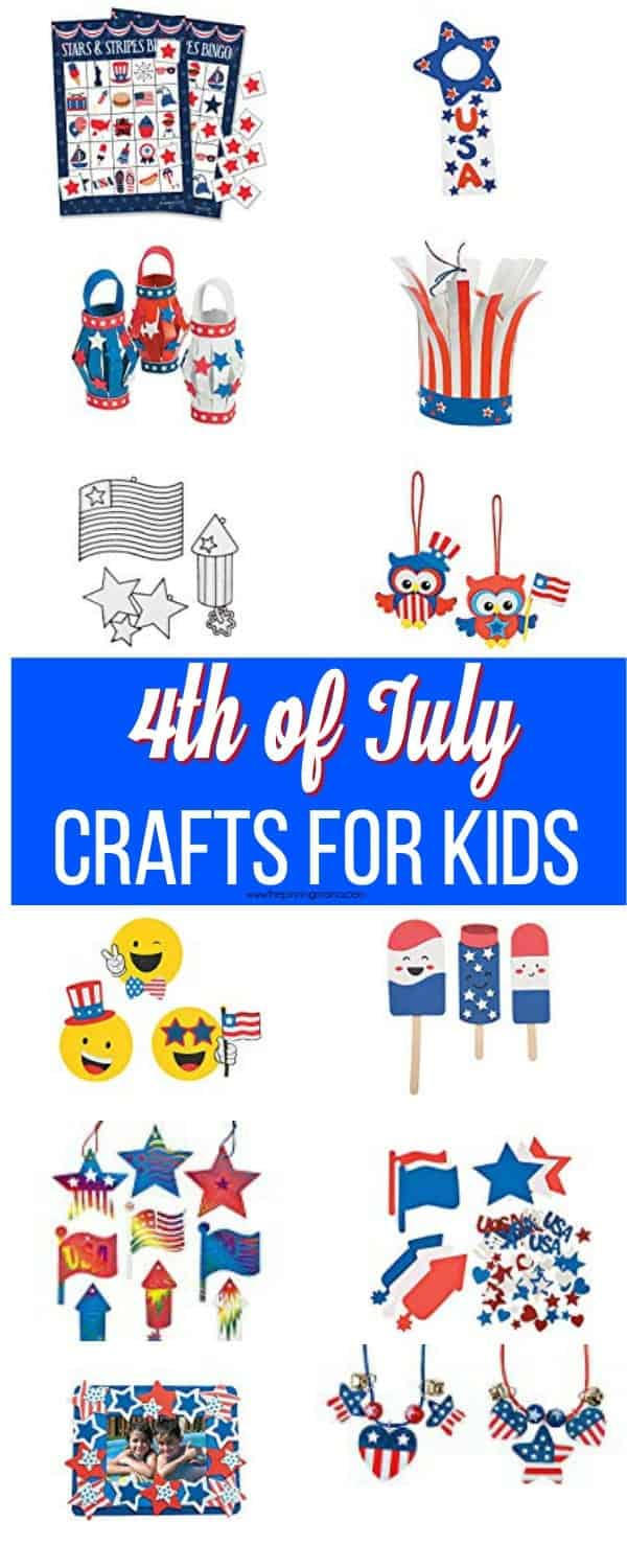 The BEST 4th of July mess free crafts for kids.