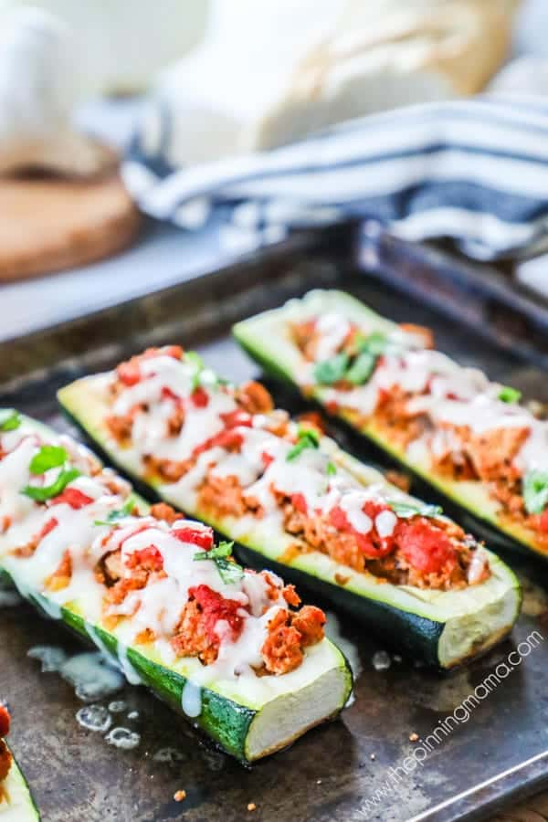 Wholesome, delicious and easy to make Italian Zucchini Boats.