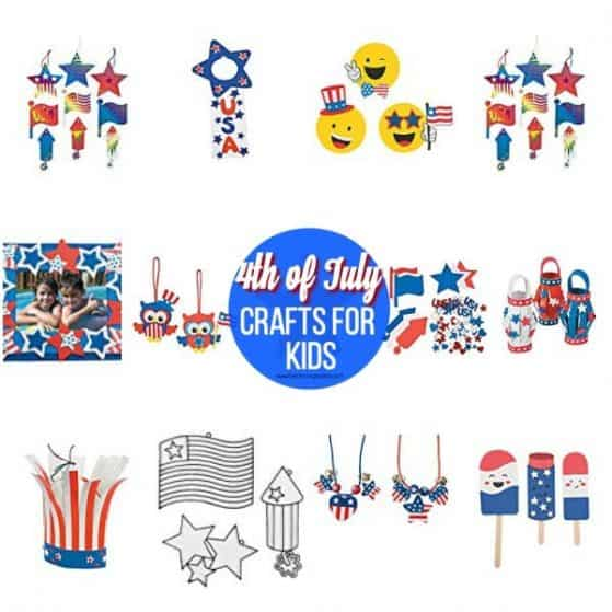 The BEST Easy 4th of July crafts for Kids.