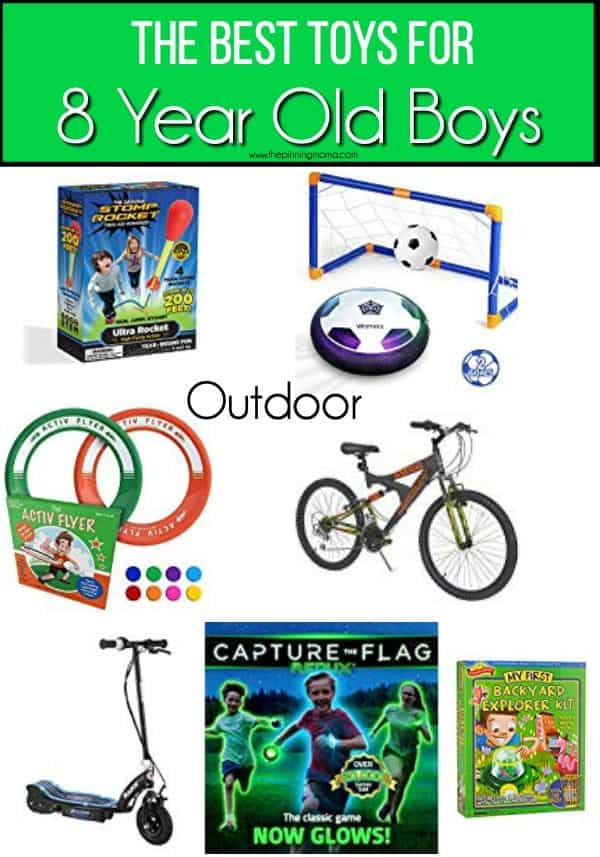 The BEST Outdoor toys ideas for 8 year old boys.