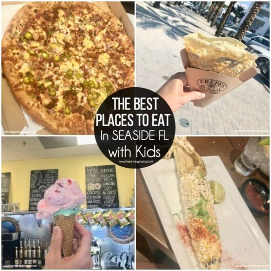 The BEST places to eat with families in Seaside FL.