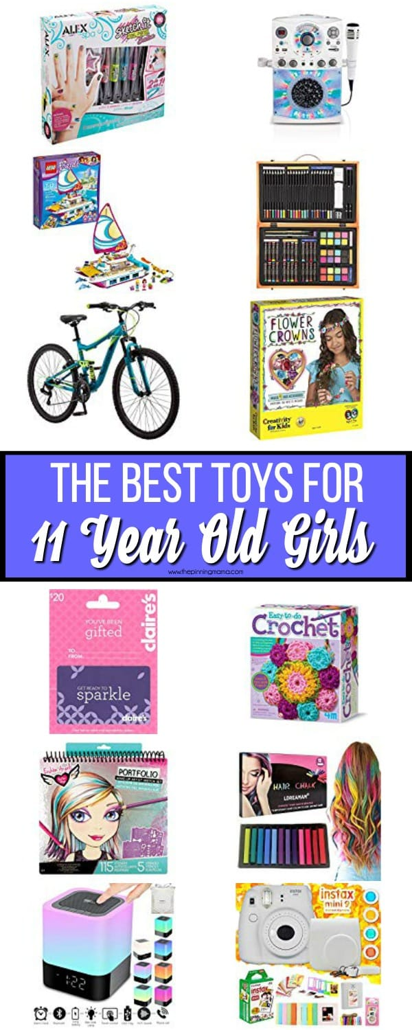 The BEST toys for 11 year old girls.