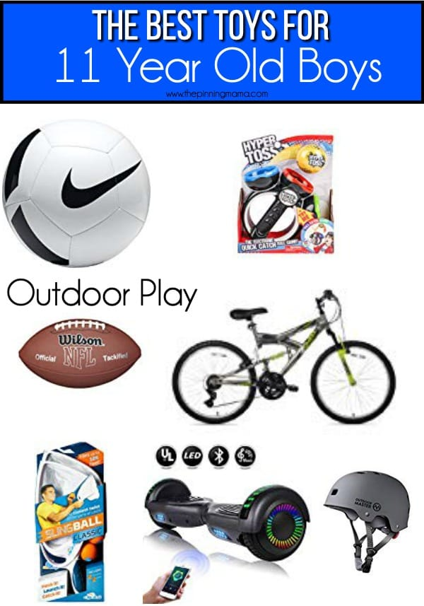 The BEST outdoor play toy ideas for 11 year old boys.