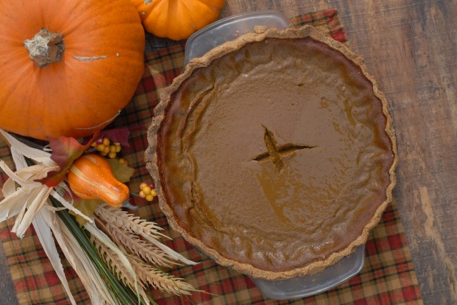 Dairy-free Pumpkin Pie- This delicious traditional fall pie is made even better when it is grain, gluten, and dairy free!