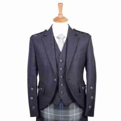Charcoal Arrochar Kilt Jacket and Waistcoat