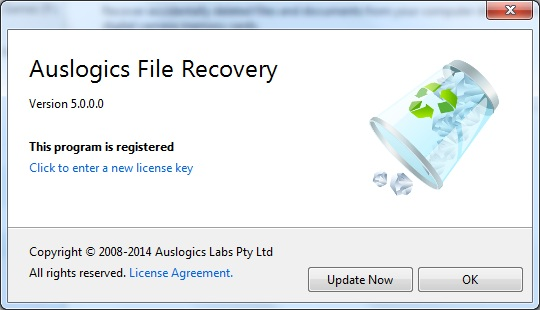 Auslogics File Recovery lifetime activation code