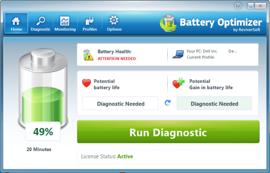 Battery Optimizer serial number for activation