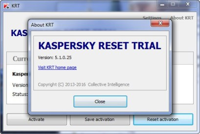 Kaspersky Trial Resetter tool download