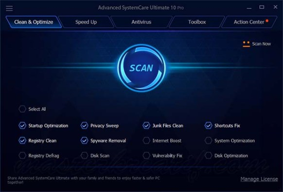 Advanced SystemCare Ultimate 10 license code