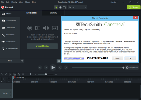 TechSmith Camtasia Studio 9.0.5 full crack