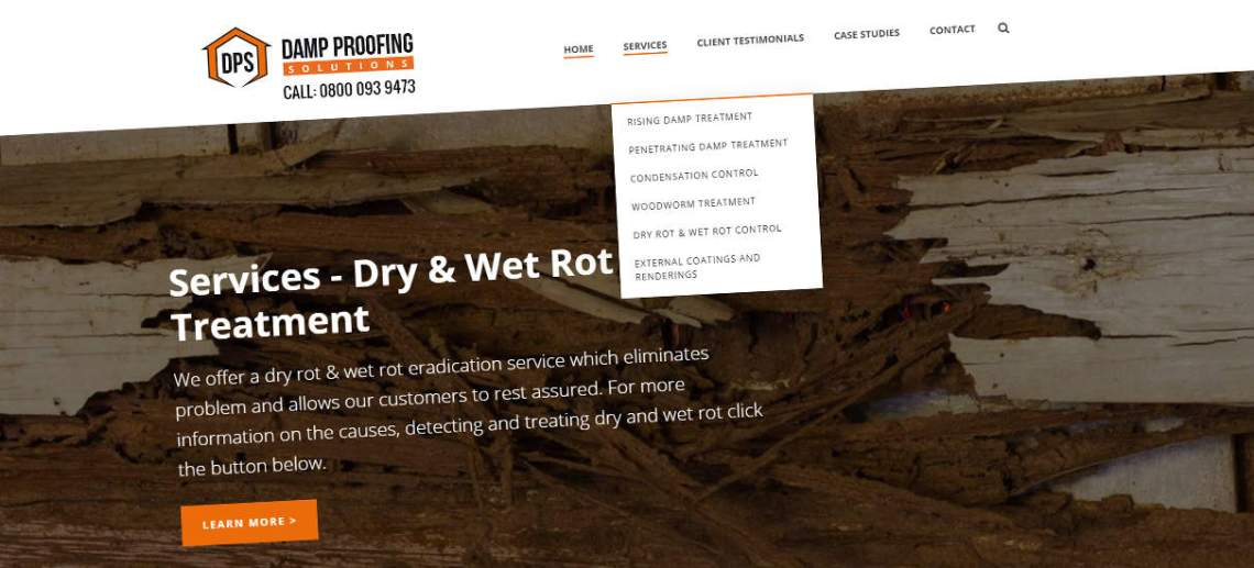 Website Design Wolverhampton for Damp Proofing Solutions