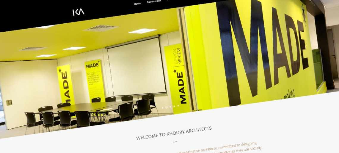 Website Design Stourbridge for Khoury Architects