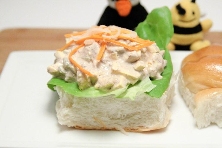 Balut Egg Salad Sandwich Closeup
