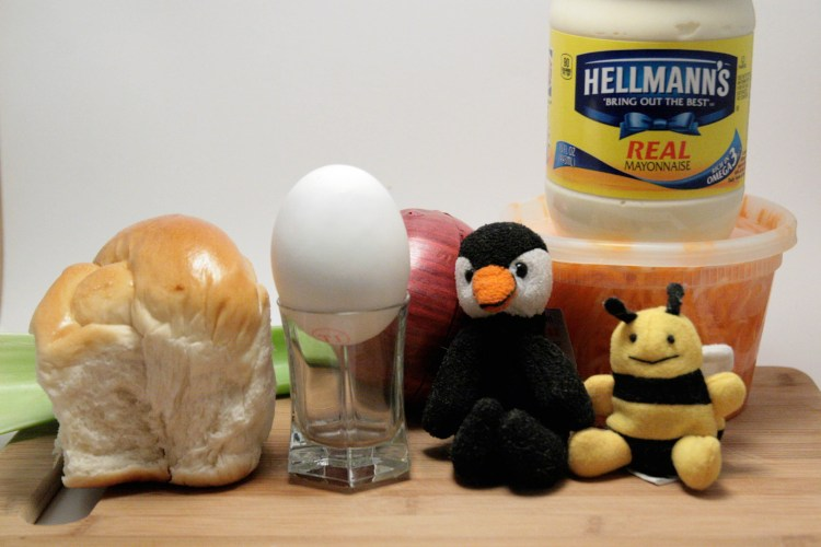 Balut Egg Salad Sandwich Ingredients