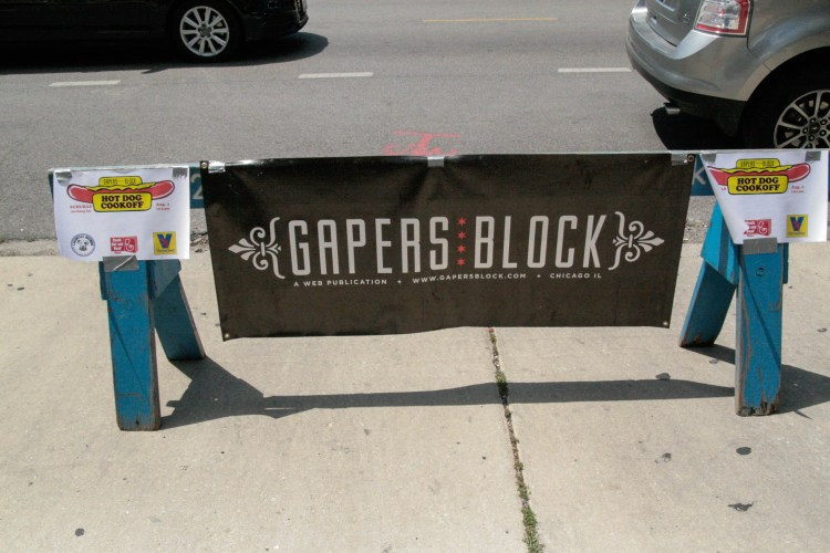 Pizzle Gapers Block Sign