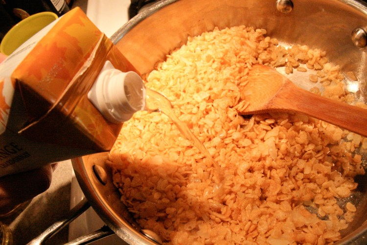Rice Krispie Risotto Add Wine