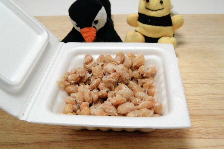 Natto Baked Beans Closeup