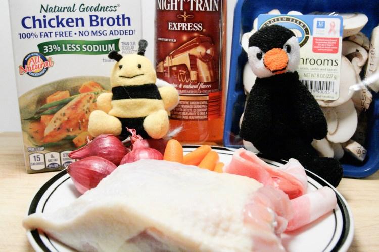 Coq au Night Train Ingredients