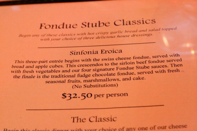 Fondue Stube Eroica