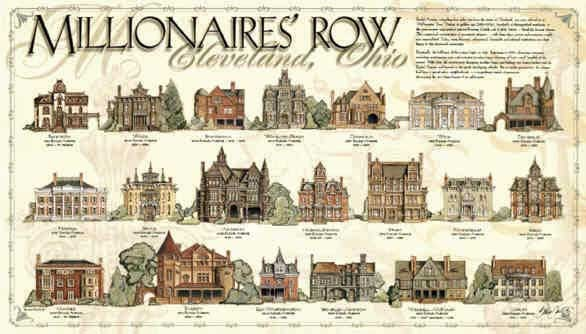 Millionaire's row cleveland homes architect drawing