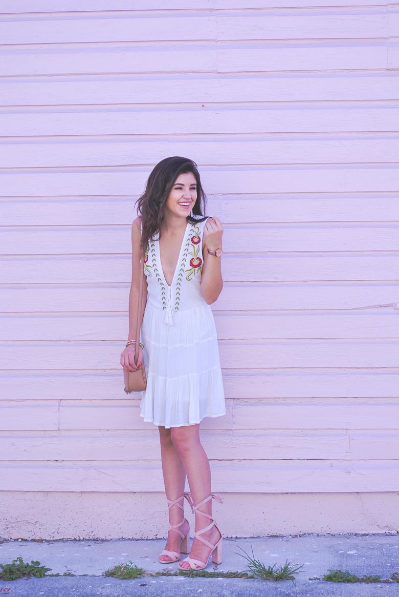 Savannah Jayne shares a fun embroidered dress.