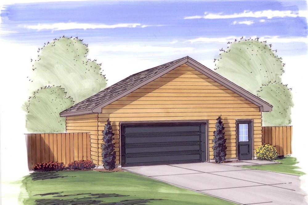 Garage With 2 Car 0 Bedrm 720 Sq Ft Plan 100 1050