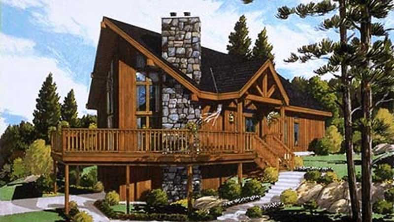 Log Cabin Small Home With 4 Bdrms 1306 Sq Ft Floor Plan 105 1043