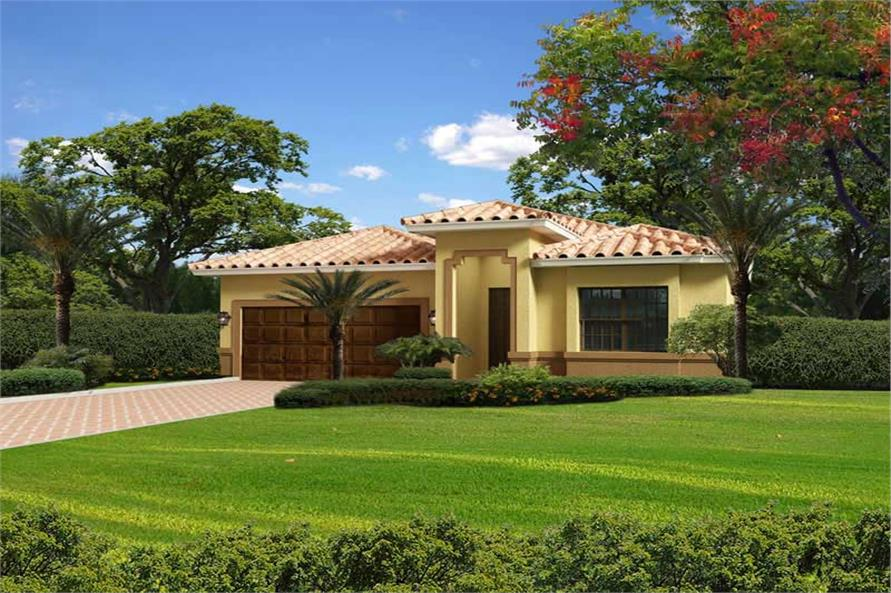 Florida Style Home Plan With 4 Bdrms 2441 Sq Ft House